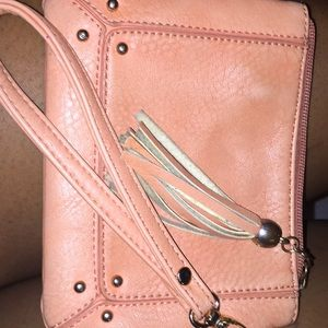 A Used Peach Handbag